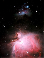 The Orion and Running Man nebula